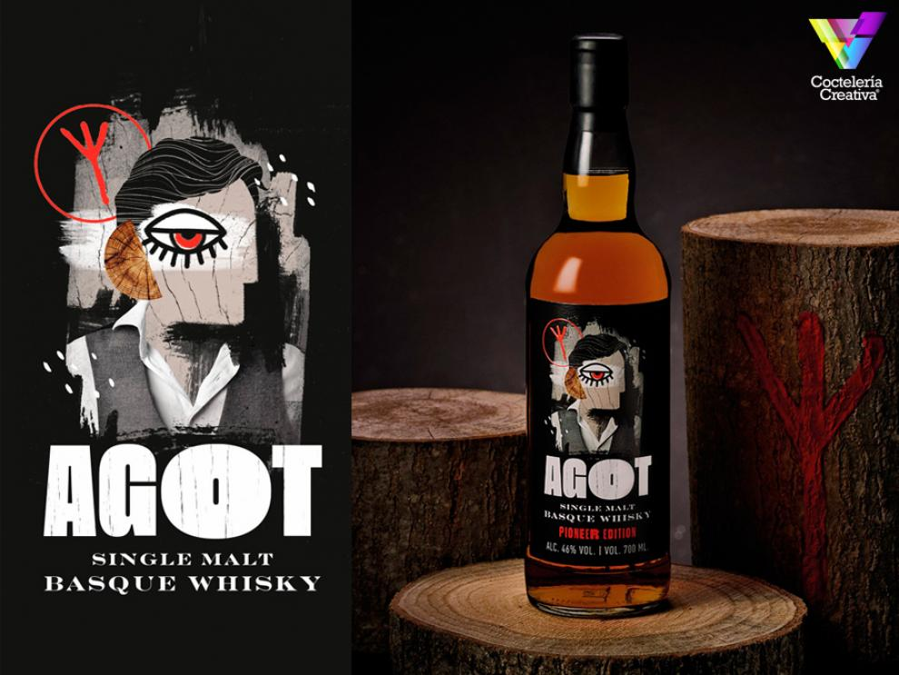 imagen de botella agot single malt basque whisky