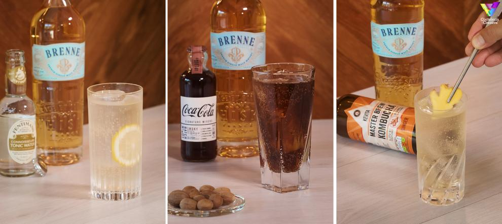 imagen de brenne single malt french whisky highballs