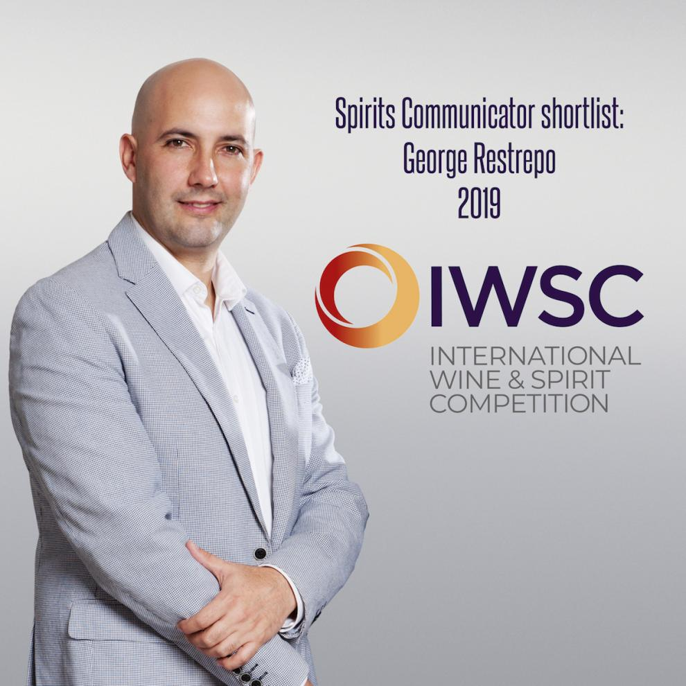 imagen George Restrepo nominado IWSC Spirits Communicator 2019