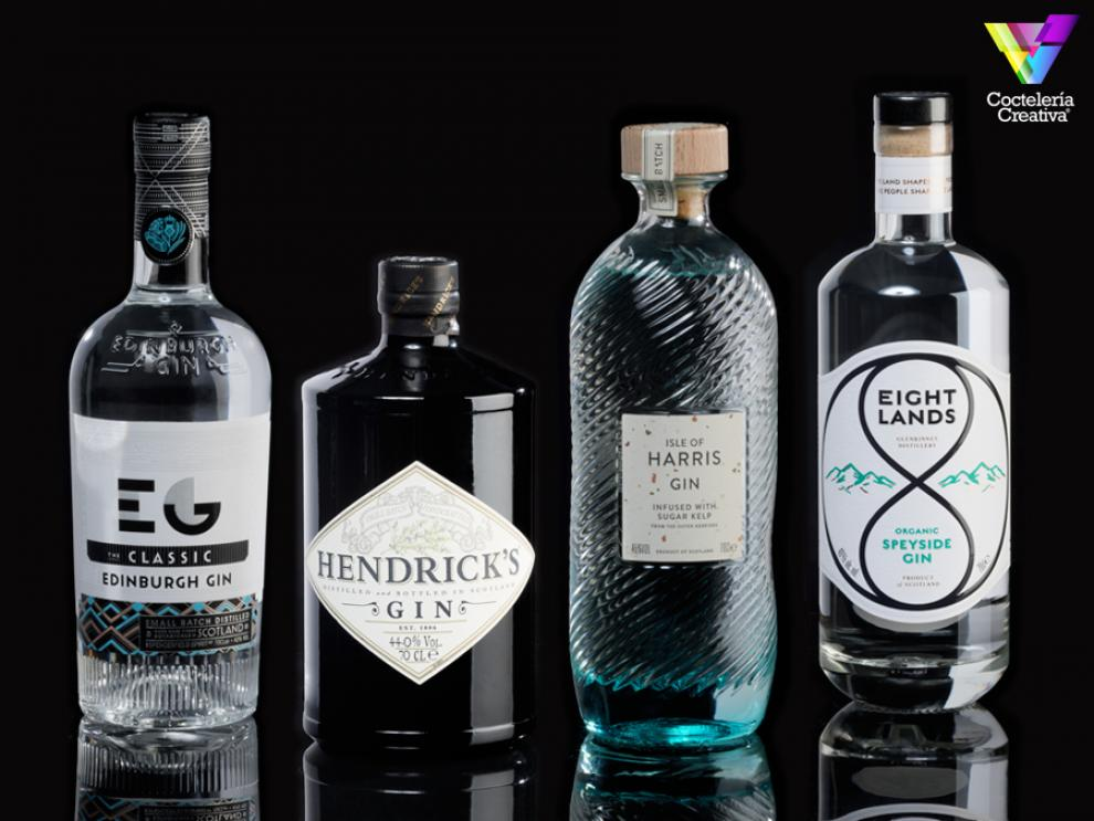 imagen de las ginebras escocesas edinburgh hendricks isle of harrys y eight lands