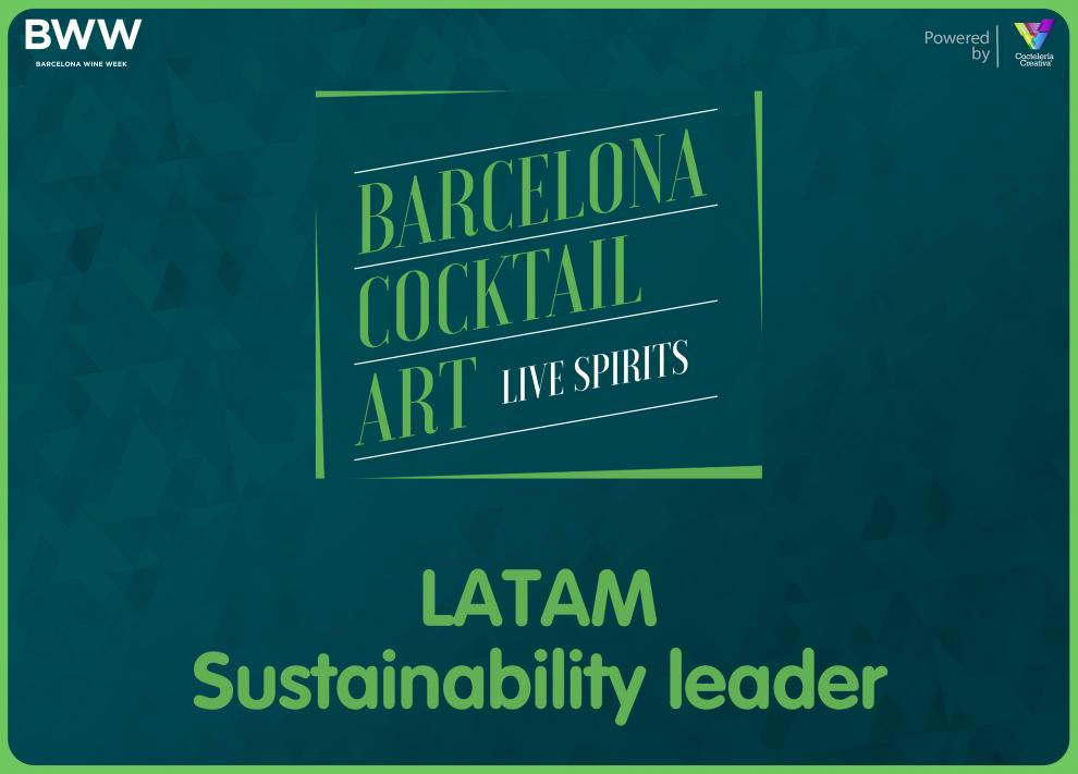 latam sustainability leader barcelona cocktail art