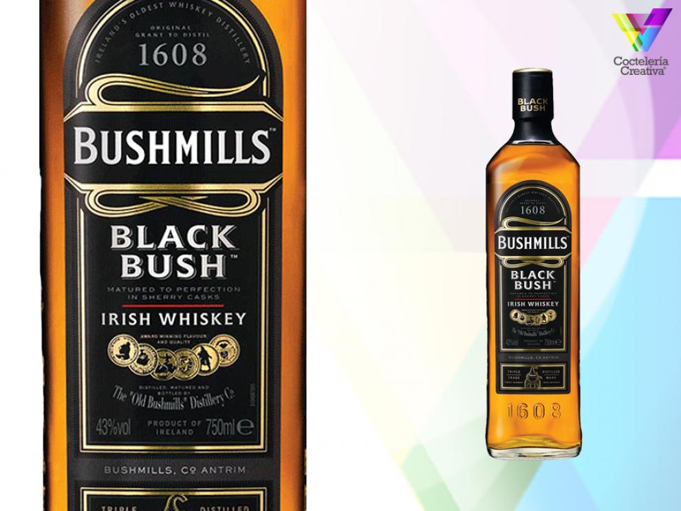 imagen de la botella de bushmills black bush irish whiskey