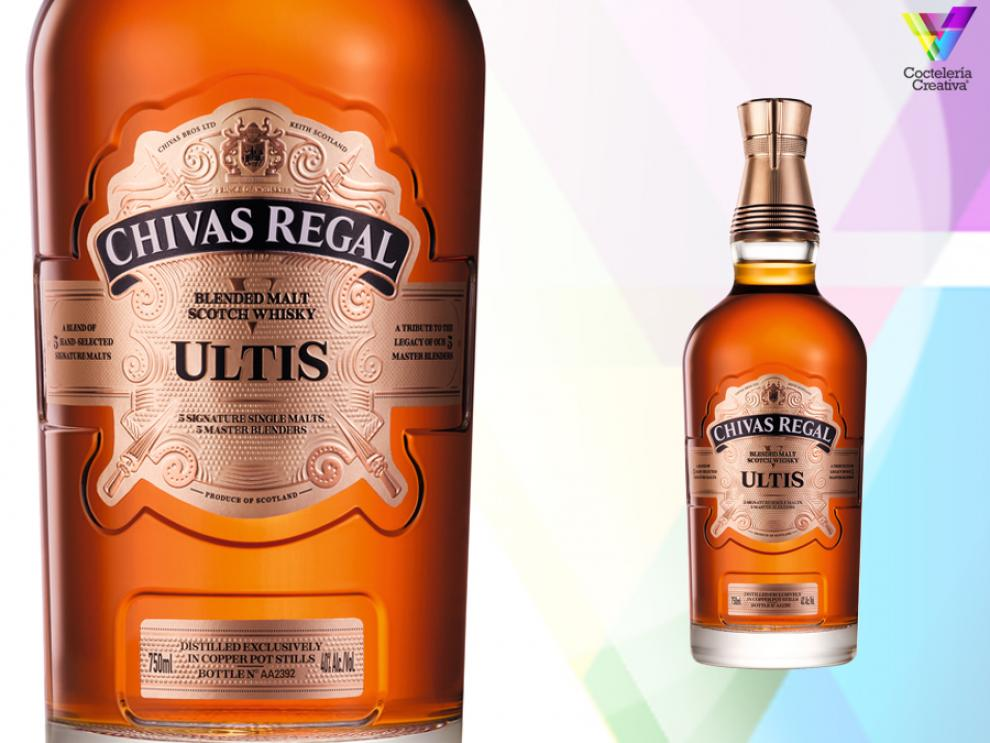imagen de la botella ultis blended malt scoth whisky de chivas regal
